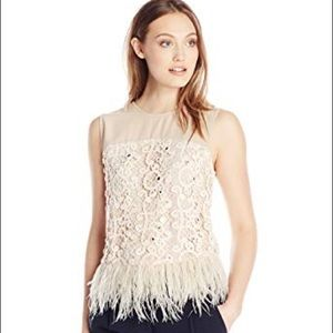 Anthropologie Lace + Feather Top